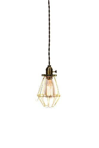 Vintage Industrial Cage Light   Economy Minimalist Bare Bulb Pendant Light