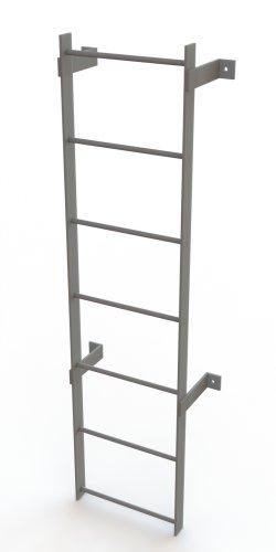 Tri-Arc WLFS0107 7-Rung Standard Uncaged Fixed Steel - Ladder Fixed Standard Steel