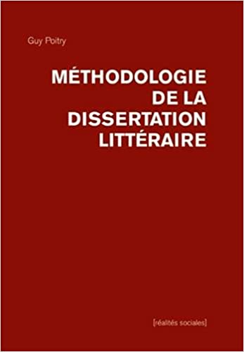 dissertation litteraire corrige pdf