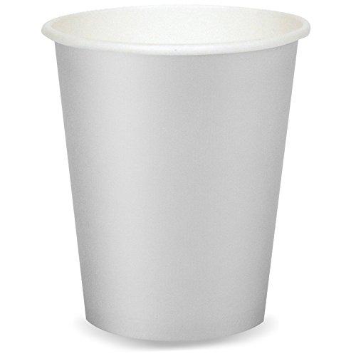 Paper Hot & Cold Cups 9oz 24/Pkg-Shimmering Silver