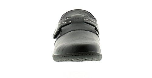 Mujer / MUJER NEGRO Laura Cómodo Zapato Con Cuero Calcetines - Negro - GB Tallas 3-8