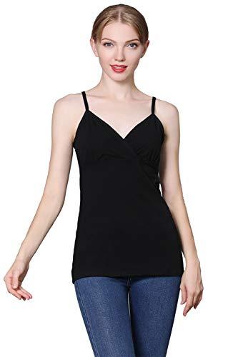 Gravidanza di V Grey Black Camicia e maternità maternità Top Top prémaman Cotone Neck Vita Topwhere X8fPqwC