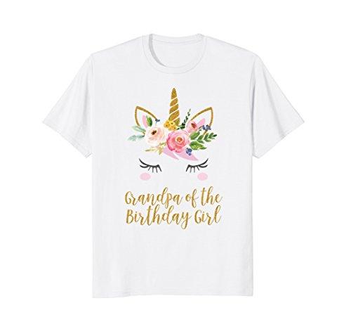 Grandpa of the Birthday Girl T-Shirt, Birthday Party Grandpa