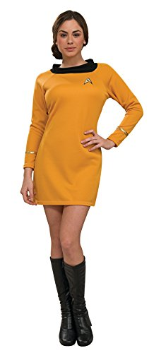 Secret Wishes  Star Trek Classic Deluxe Gold Dress, Adult Medium (Star Trek Uniform Dress)