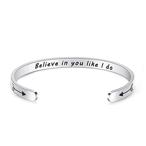 Inspirational Bracelet Bangle Cuff Motivational Encouragement Friendship