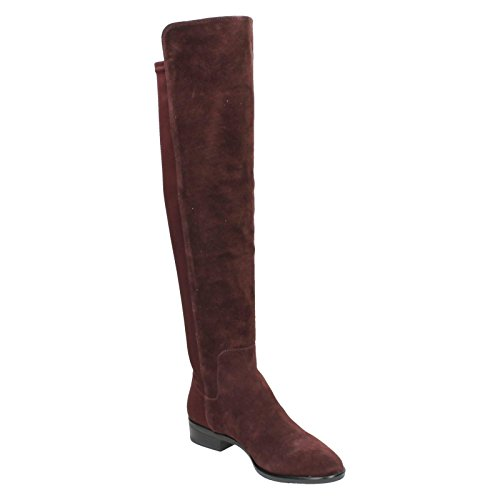 Clarks Womens Caddy Belle Long Boots Rood