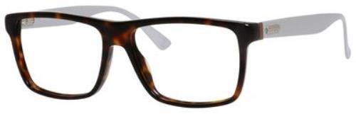 GUCCI Eyeglasses 1077 0Jwp Havana Palladium 55MM