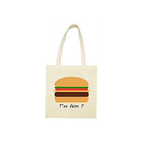 beige ta bag hamburger faim Tote HZ7Pw