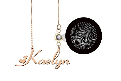 GR35Z9 Personalized My Name Necklace I Love You Projection Necklace Kaelyn
