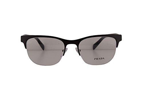 Prada PR54RV Eyeglasses 53-19-145 Matte Brown w/Demo Clear Lens LAH1O1 PR54R PR 54R PR 54RV (NO BOX & NO - Eyeglasses Prada Case