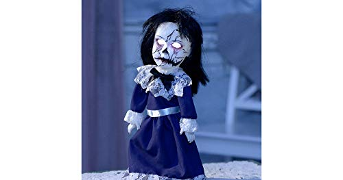 Animated Possessed Doll Halloween Decoration and Prop, 6 1'2