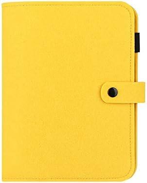 A5 / A6 Tragbare Felt Page Holder reine Abdeckung Tagebuch Notebook Reisebüro Papier- und Schreibwaren Filz Shell Ring Binder (a6-gelbe Gehäuse ohne Seite)
