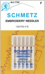 Euro-notions Embroidery Machine Needles, Size 3-75/2-90, ...