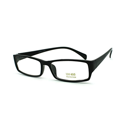 Sexy School Teacher Look Narrow Rectangular Plastic Frame Eye Glasses - Mens Glasses Sexy