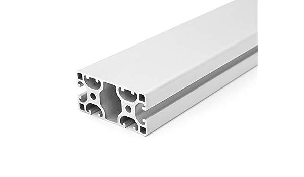 28,00 EUR//m + 0,50 EUR por corte, m/ín. 2,50 EUR 1 Perfil de dise/ño//perfil de aluminio 40 x 80 L 2 ranuras ocultas de tipo I Nut 8 2000 mm 50mm corte 50 mm
