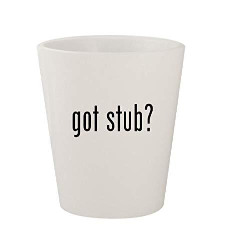 got stub? - Ceramic White 1.5oz Shot Glass