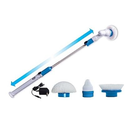 Blow Spin Scrubber l Flexible Bristles l Rechargeable Cleaner Scrubs