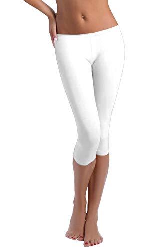 FUNGO Legging Pour Femmes 3/4 Longueur Yoga Fitness Pantalon Leggings De Sport F34