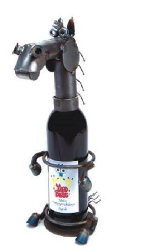 Yardbirds Horse - Yardbirds Junkyard Metal Animal Horse Wine Caddy - F119
