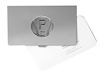 mlb pittsburgh pirates engraved business card holder - Engraved Business Card Holder