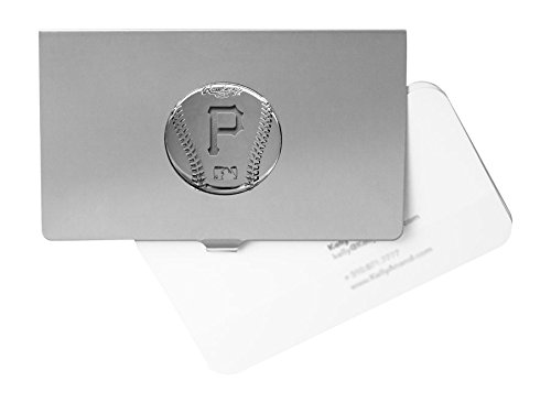 Engraved Silver Plated Business (MLB Pittsburgh Pirates Engraved Business Card Holder)