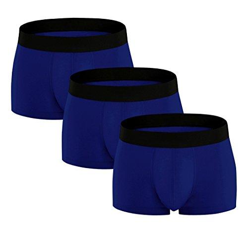 ADOLPH Men's Underwear Boxer Briefs 3 Pack 3D Pouch...