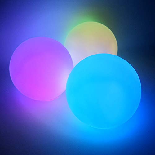 Light Up Centerpiece Round Ball Lamps (Set of 6) - Battery Operated Centerpiece LED Orb Light with 8 Color Modes (Orb Shape)