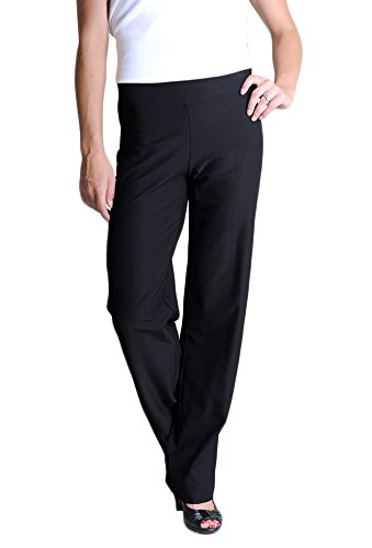 (Eileen Fisher Petite Washable Stretch Crepe Straight Leg Pant)