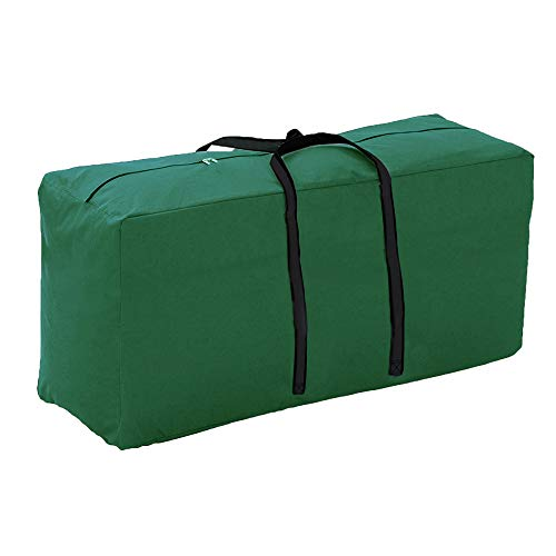 Linkool Outdoor Patio Furniture Seat Cushions/Cover Storage Bag with Strong Zipper and Handles 45.6 x 18.5 x 20 Inches Green Waterproof