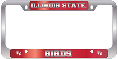 Illinois Plate Stickers - Acove Illinois State University Metal License Plate Frame-Red