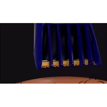 Nova NHT-1071 Titanium Coated USB Trimmer for Men (Black/Blue)