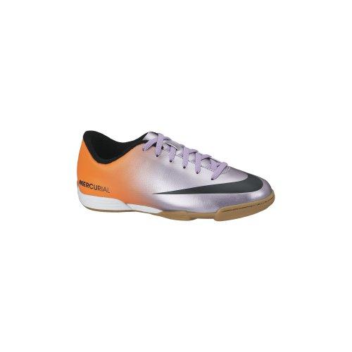 Nike Jr Mercurial Vortex IC - Zapatillas de fútbol para unisex Plateado / Negro / Naranja