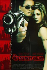 THE REPLACEMENT KILLERS (1998) Real Authentic Movie Poster 27x40 - Dbl-Sided - Yun-Fat Chow - Mira Sorvino - Michael Rooker