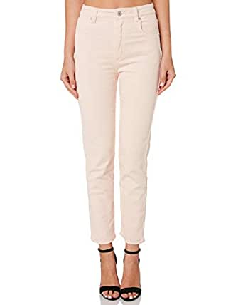 A.Brand Women's A 94 High Slim Cord Cotton Fitted Corduroy White