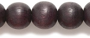 [Shipwreck Beads Preciosa Czech Traditional Opaque Wood Round Beads, 8mm, Walnut, 200-Pack] (Walnut Beads)