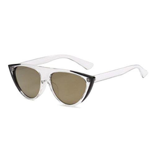 gato de de personalidad gafas Mercurio mujer Inlefen Oro gafas sol moda ojos moda Negro sol tendencia calle de ZqfUZwdxp7