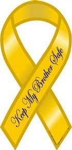 Safe Ribbon Magnet - Keep My Brother Safe - 4