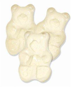 (White Pineapple Gummi Gummy Bears Candy 1 Pound Bag)