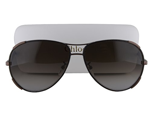 Chloe CE100SL Sunglasses Bronze Brown w/Leather w/Gray Gradient Lens 700 CE 100SL For Women