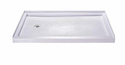 DreamLine SlimLine 32 in. D x 60 in. W x 2 3/4 in. H Left Drain Single Threshold Shower Base in White