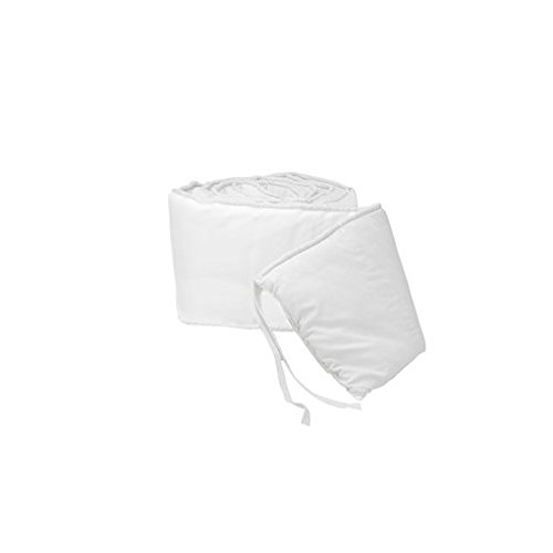 BabyDoll Tailored Baby Cradle Bumpers, White, 18'' x 36'' by BabyDoll Bedding