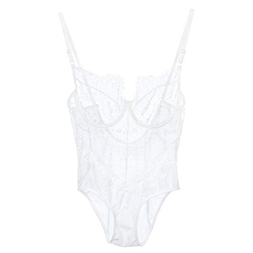 Racy Underwear Gaddrt mussola White Body ferretto lingerie corsetto pizzo Temptation qB8rBIw