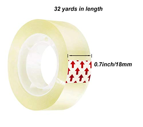 LaOficina 24 Rolls Transparent Tapes Clear Invisible Tape, 0.7'' x 32 yds, for School Office by LaOficina (Image #1)