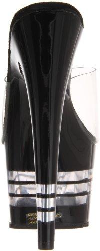 Pleaser Adore-701 - Sandalias de vestir Mujer Negro - Black (Clear)