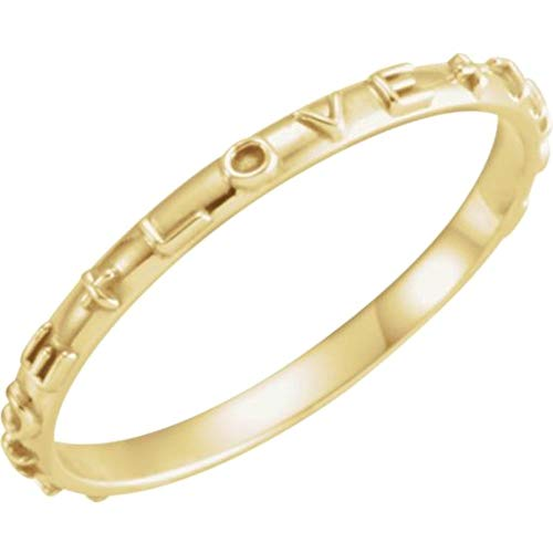 Bonyak Jewelry 10k Yellow Gold True Love Chastity Ring with Packaging - Size 8