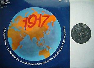 Soviet Music 1917-1977: Dmitri Shostakovich - Khrennikov - E. M. Mirzoyan - Sergei Prokofiev - G. V. Sviridov - Boris Tchaikovsky 2 Lp's. In a Gatefold Jacket with 4 Page Program in Russian and English ~~ Panton 11 0665-6
