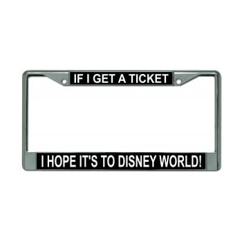 Amazon.com: Cute Funny License Plate Frame If I Get Ticket I Hope ...