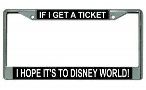 disney chrome license plate - 5
