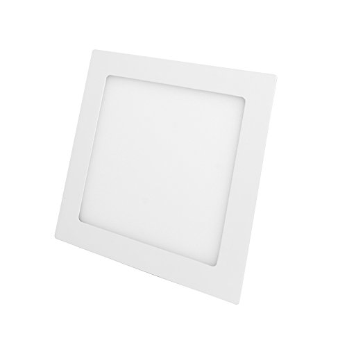 Surface Fixture (Jambo SMD LED Surface Recessed Ceiling Panel Down Lights Fixture Kit Mount Lamp Energy Saving Ultra Thin and Bright (Warm white, 15W Square))