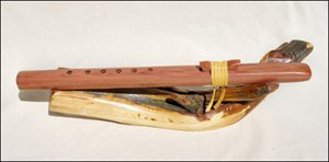 Windpony Native American Style Key of A Aromatic Cedar 6-hole Flute